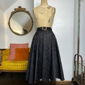 Vintage 50's Full Circle Quilted Skirt